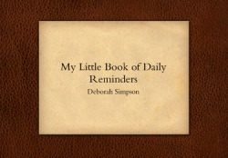 Book of reminders by Deborah Simpson